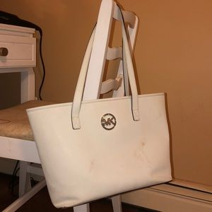 AUTHENTIC whit Michael Kors tote